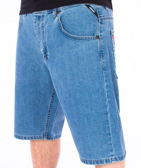 Mass-Dripline Spodnie Krótkie Jeans Light Blue