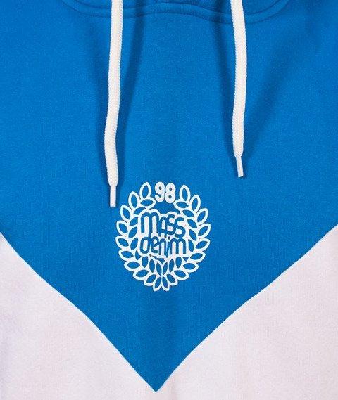Mass-Fang Bluza Z Kapturem Niebieska/Biała/Czarna