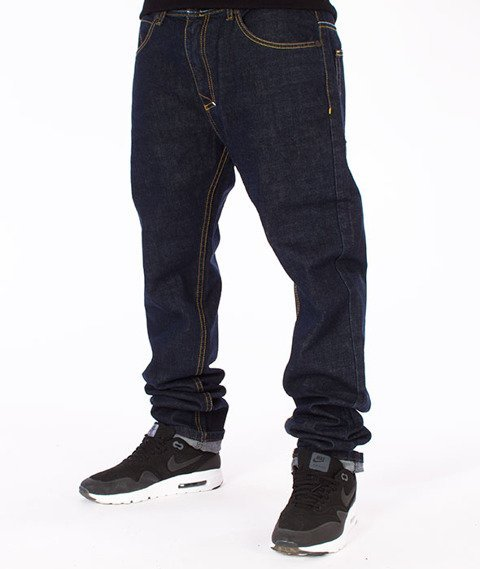 Mass-Flip Tapered Fit Jeans Spodnie Dark Blue