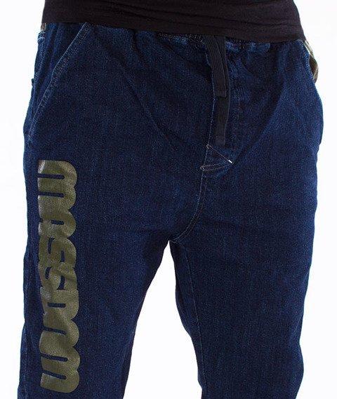 Mass-Half Camo Jogger Spodnie Rinse