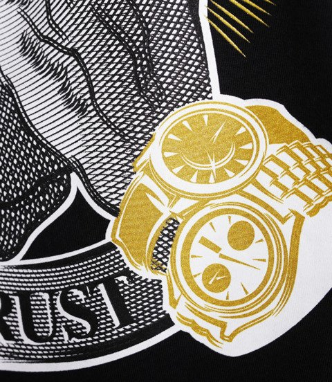 Mass IN GOLD WE TRUST T-Shirt Czarny