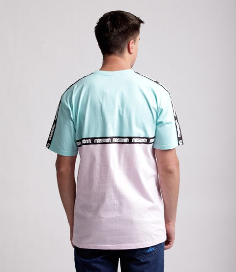 Mass Line T-Shirt Miętowy/ Jasny Różowy