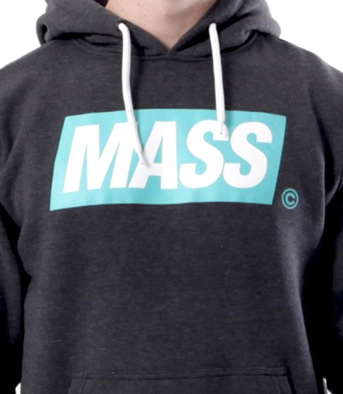 Mass-Mass Mass DNM bluza Sweatshirt Big Box Hoody Ciemno Szara