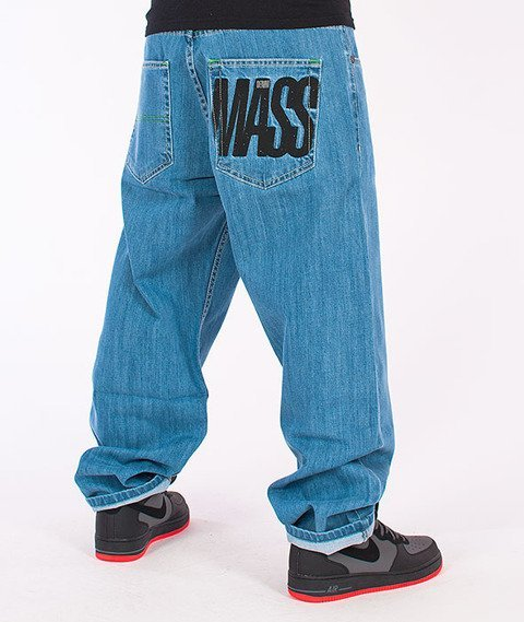 Mass-Outsized Baggy Fit Jeans Light Blue