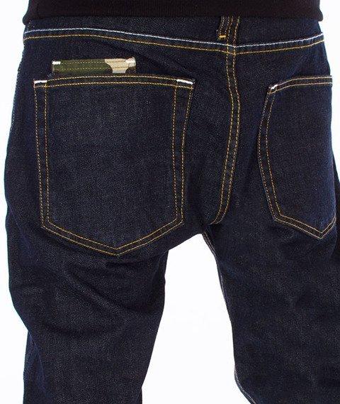 Mass-Patrol Tapered Fit Jeans Spodnie Rinse Blue