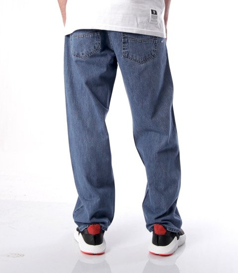 Mass SLANG Jeans Baggy Fit Niebieski