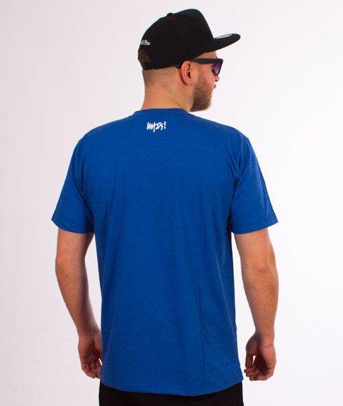 Mass-Signature T-shirt Niebieski