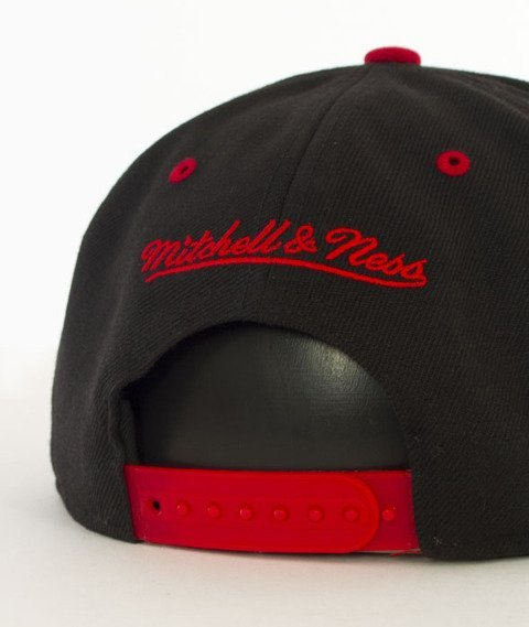 Mitchell & Ness-2 Tone Team Arch Miami Heat Snapback NA80Z Czarny/Czerwony