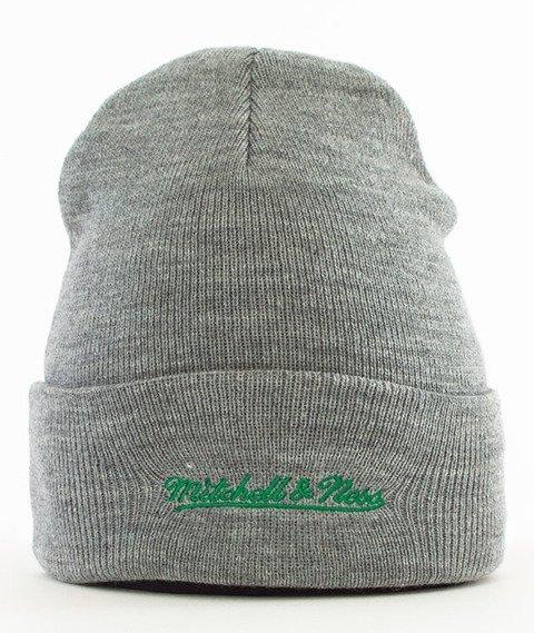 Mitchell & Ness-Boston Celtics Team Logo Cuff Knit Czapka Zimowa Szara