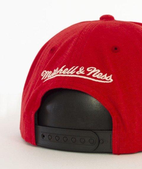 Mitchell & Ness-Sadny Off White Chicago Bulls Snapback VV16Z Czerwony/Czarny