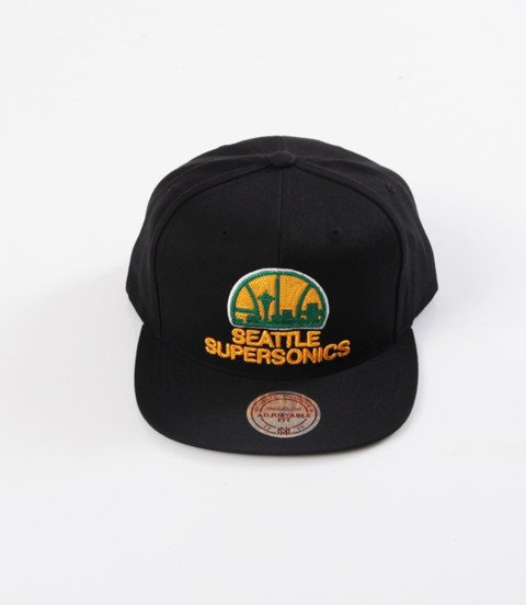 Mitchell & Ness- Wool Solid Snapback - NBA - Seattle Supersonics