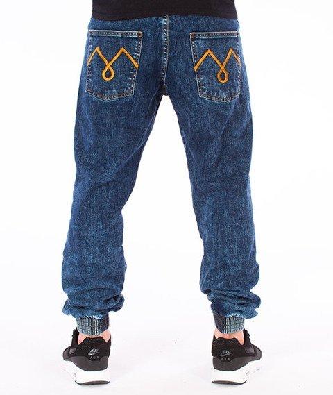 Moro Sport-M-Stripe Jogger Jeans Regular Spodnie Marmurkowe Pranie