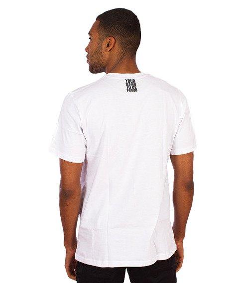 Moro Sport-Paris Stripes T-Shirt Biały