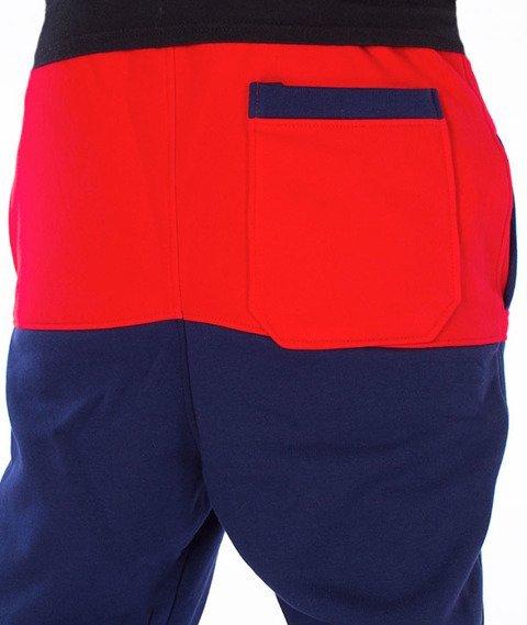 Moro Sport-Shield Spodnie Dresowe Czerwone/Granatowe