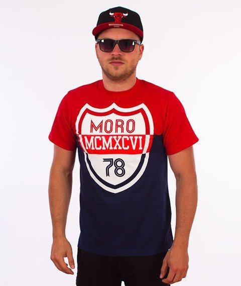 Moro Sport-Shield T-Shirt Czerwony/Granatowy