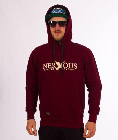 Nervous-Classic Sp18 Bluza z Kapturem Maroon