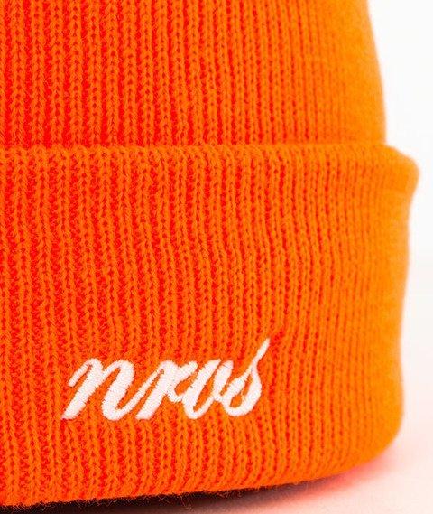 Nervous-Cuff Script Czapka Zimowa Orange