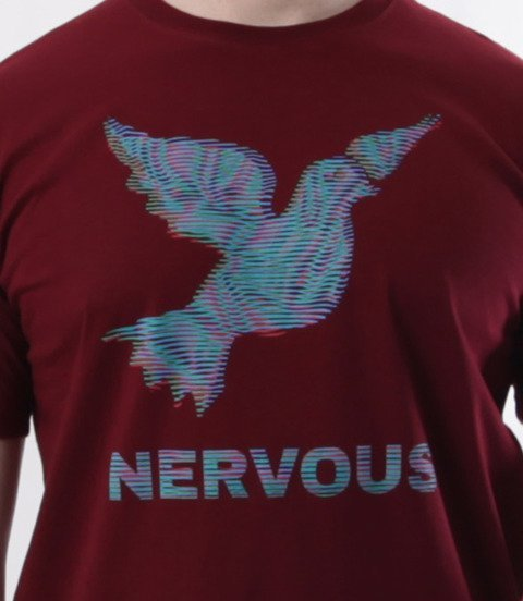 Nervous-LCD SS19 T-shirt Bordowy