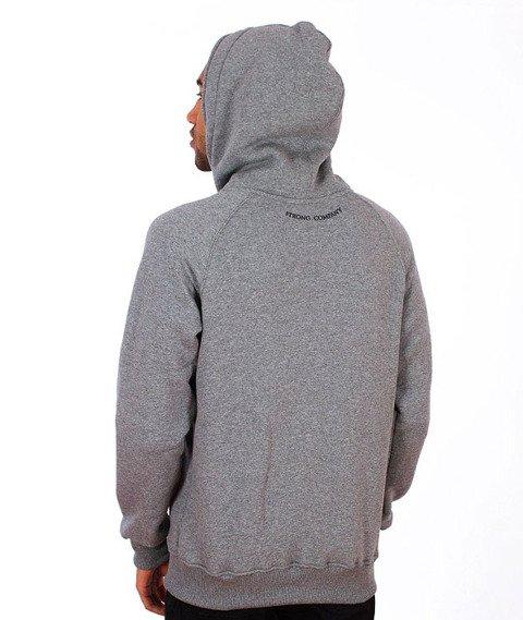 Nervous-Pin Bluza Kaptur Zip Grey