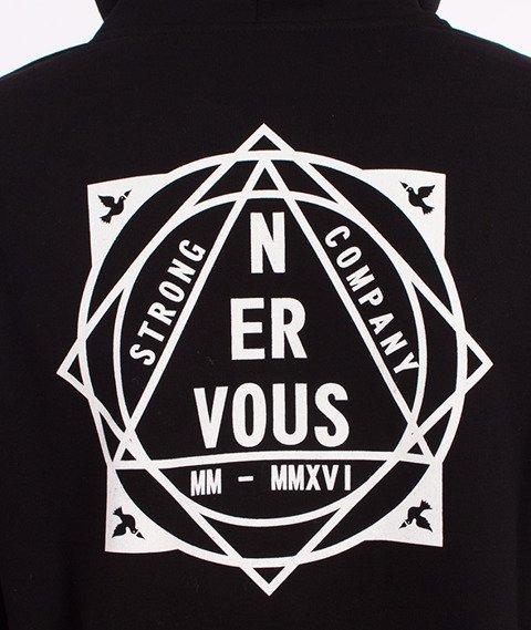 Nervous-Pyramid Bluza Kaptur Zip Czarna