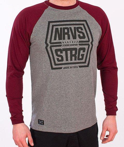Nervous-Shield Longsleeve Grey/Maroon