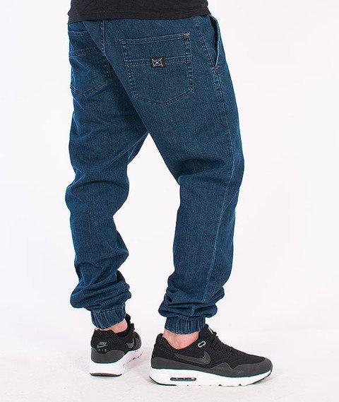 Nervous -Spodnie Sp16 Jogger Jeans Blue