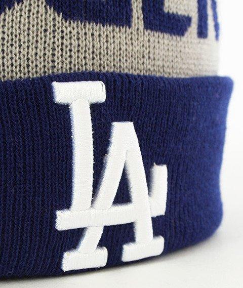 New Era-LA Dodgers Team Czapka Zimowa Niebieska/Szara