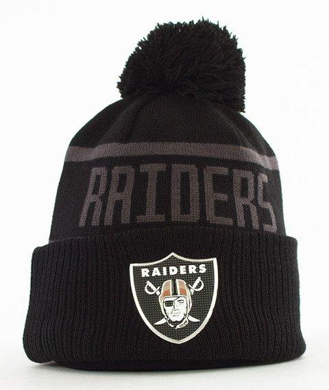 New Era-Oakland Raiders Coll Knit Czapka Zimowa Czarna/Szara