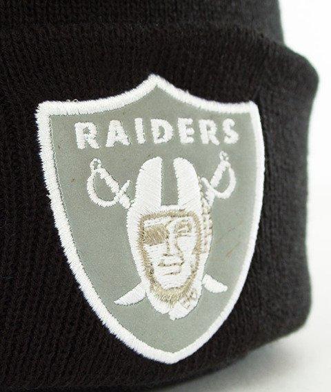 New Era-Oakland Raiders Night Ops Cuff Czapka Zimowa Czarna