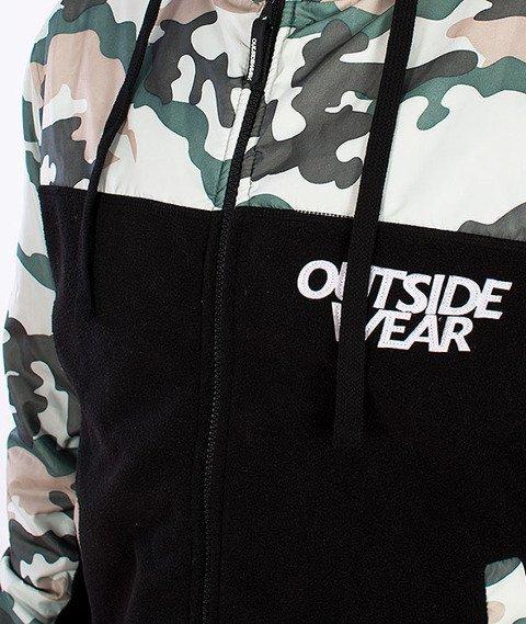 Outside Wear-Camo-CL Bluza Zip/Kurtka Czarna/Camo