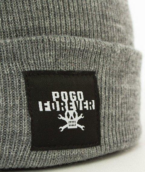 POGO-Forever Grey Beanie Czapka Zimowa Szara