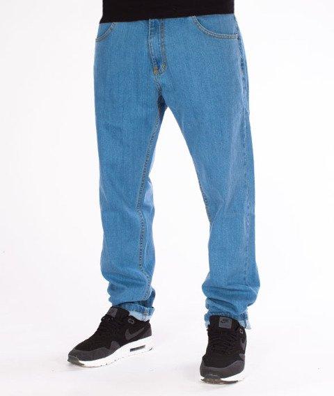 Patriotic-Basic Spodnie Jeansowe Jasny Niebieski