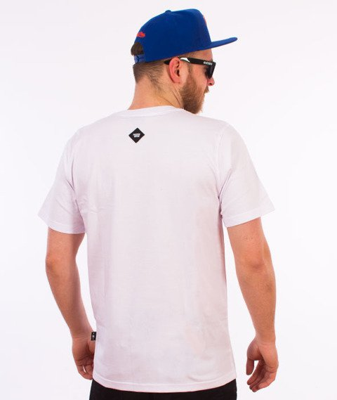 Patriotic-Bloki T-shirt Biały