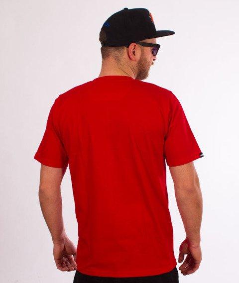 Patriotic-CLS Cut Line T-shirt Czerwony