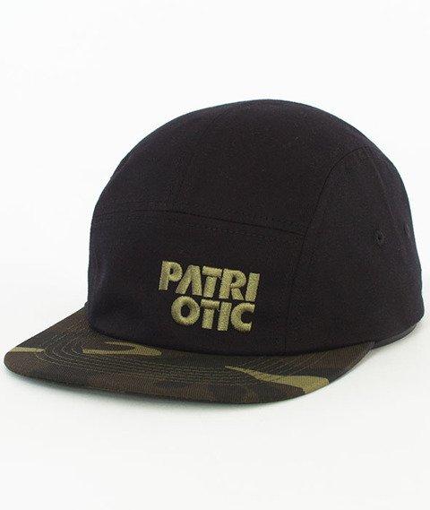 Patriotic-CLS Czapka 5 Panel Czarna/Camo