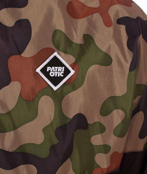 Patriotic-CLS Romb Zip Kurtka Wiatrówka Czarna/Woodland Camo