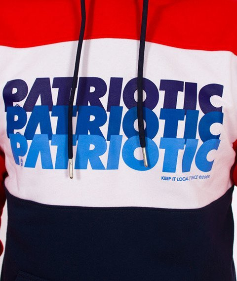Patriotic-F Trio K Bluza Kaptur Czerwona/Granat