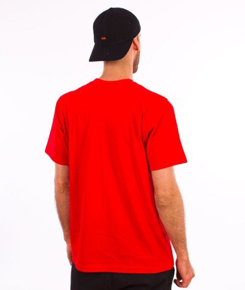Patriotic-Fingerprint T-shirt Czerwony