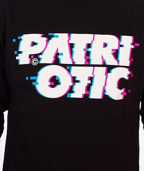 Patriotic-Glitch Bluza Czarna