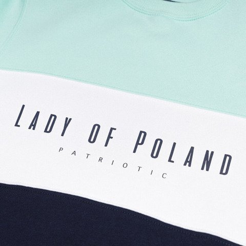 Patriotic Lady of Poland Trio Bluza Damska Miętowy / Granatowy