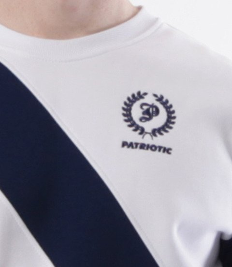 Patriotic-Laur Cross Line Bluza Klasyczna Biało Granatowa