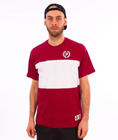 Patriotic-Laur Mini Trio T-shirt Bordo/Biały