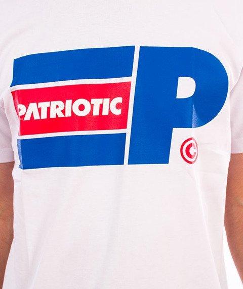 Patriotic-P Big Flag T-Shirt Biały