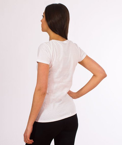 Patriotic-Pat Girl T-shirt Damski Biały