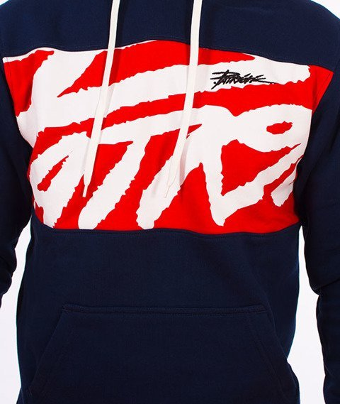 Patriotic-Tag Box Bluza Kaptur Granatowa/Czerwona