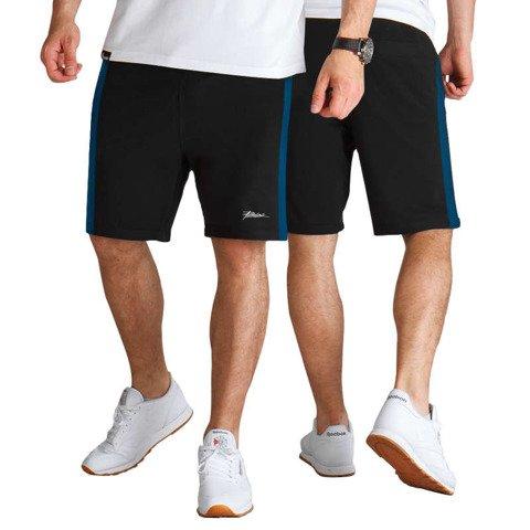 Patriotic-Tag Slice Spodnie Shorty dresowe Czarne