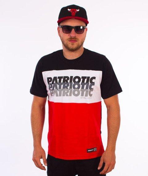 Patriotic-Trio T-shirt Czarny/Biały/Czerwony