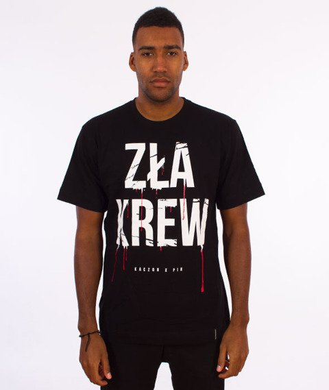 Pihszou-Zła Krew T-shirt Czarny