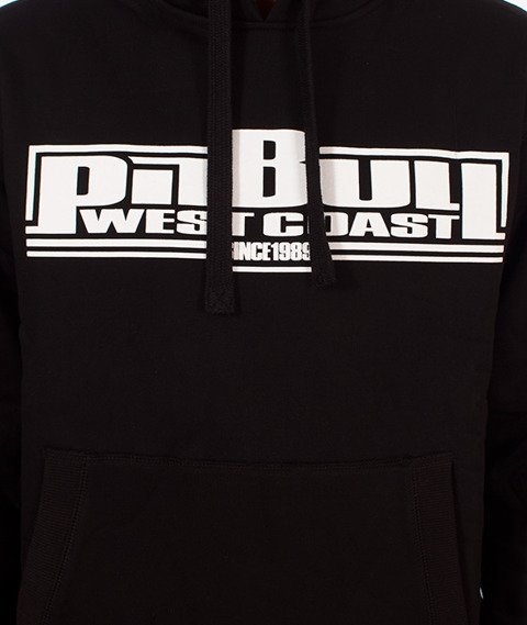 Pit Bull West Coast-Basic Hoodie Bluza Kaptur Czarna