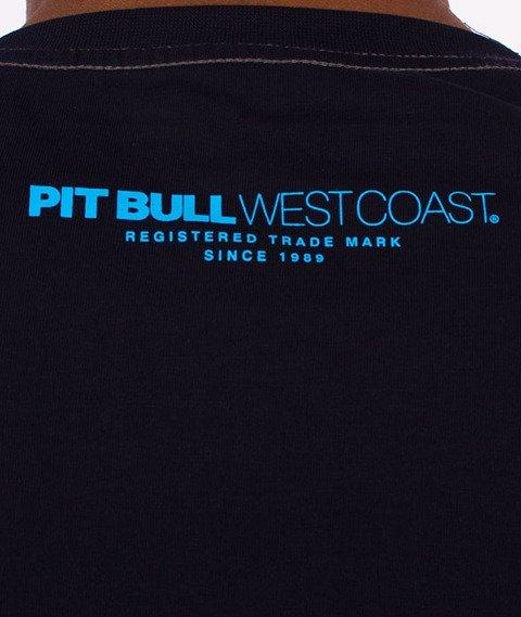 Pit Bull West Coast-Classic Boxing T-Shirt Granatowy